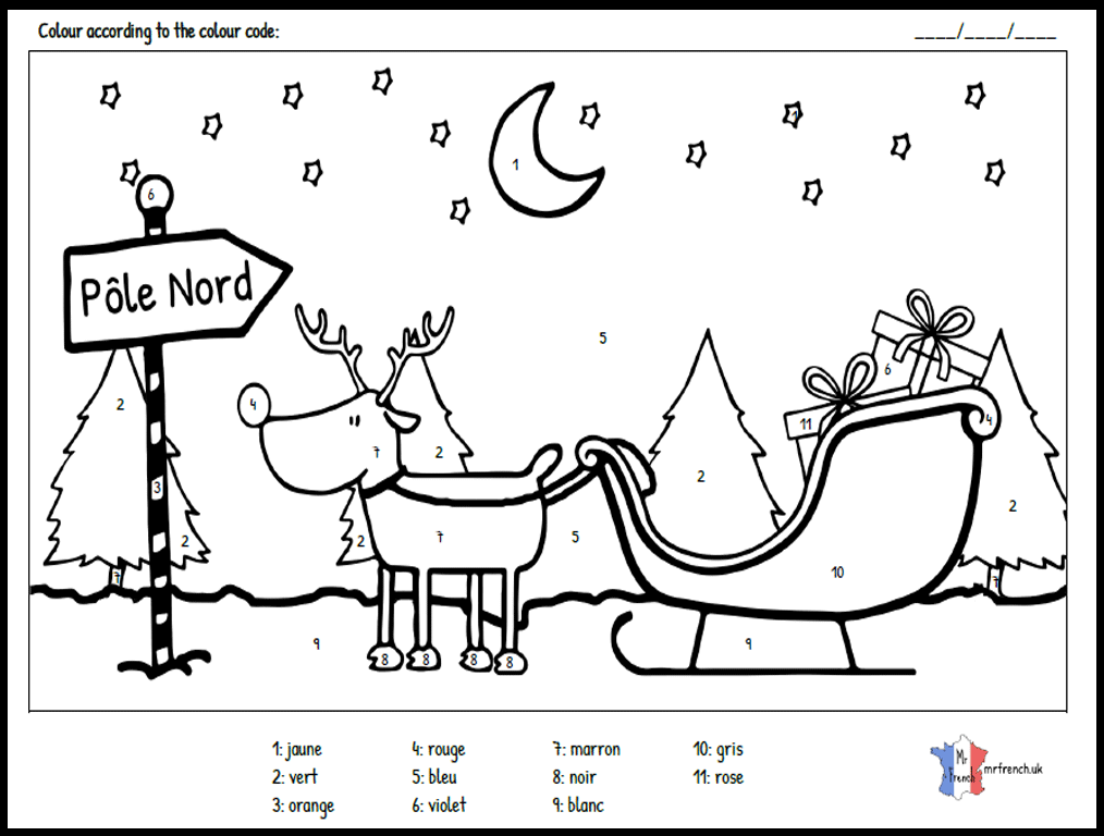 Christmas Colouring Mrfrench